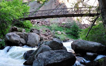 Streamside Trail Bridge in Eldorado Canyon State Park