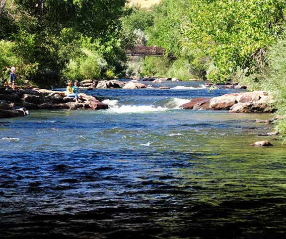 Clear Creek Trail in Golden Colorado