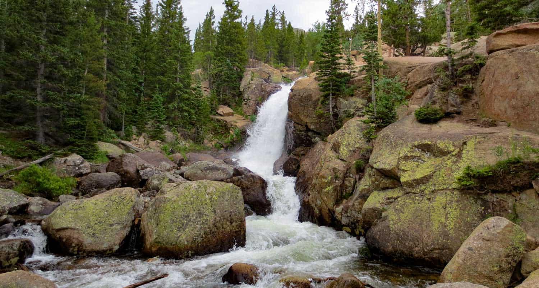 Alberta Falls Hike At Rocky Mountain National Park Day Hikes - Colorado waterfalls map