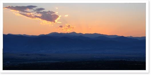 View From Daniels Park Near Sedalia Colorado