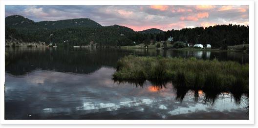 Evergreen lake, Colorado