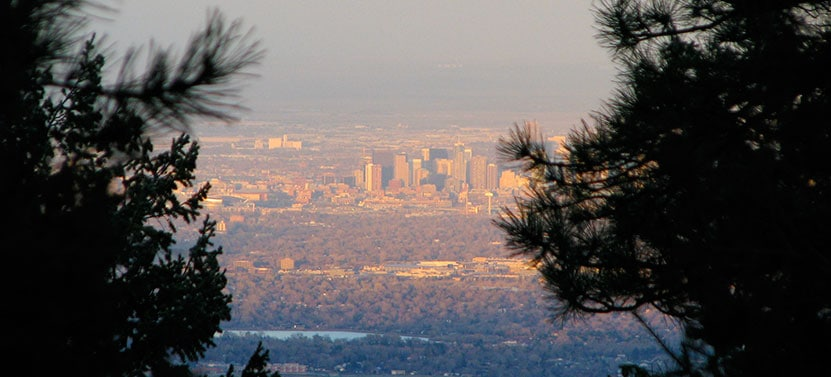 Denver View From Mount Falcon
