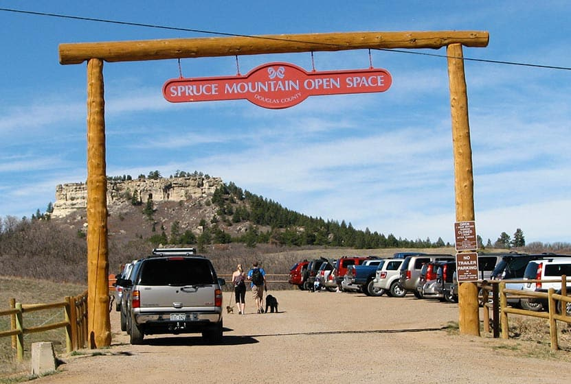 spruce mountain open space trailhead
