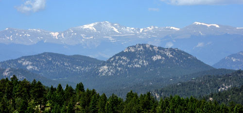 view from the trail at ofallon park near evergreen colorado