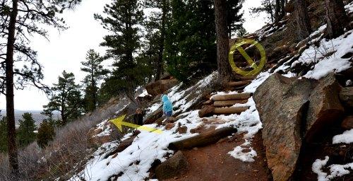 Enchanted Mesa Boulder Colorado go down not up