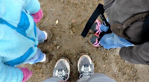 Enchanted Mesa Boulder Colorado muddy shoes