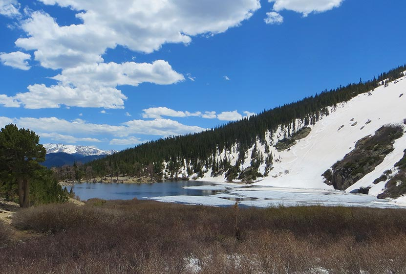 st marys glacier near idaho springs beginning snowfield