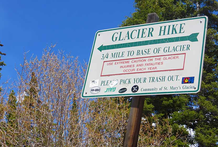 st marys glacier hike trailhead
