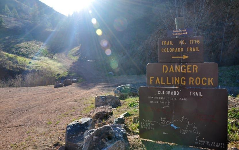 colorado-trail-sign-waterton-canyon
