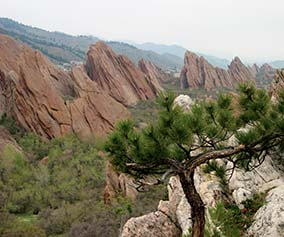 A view from Fountain Valley Trail at Roxborough State Park