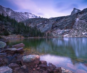 black lake rocky mountain national park header