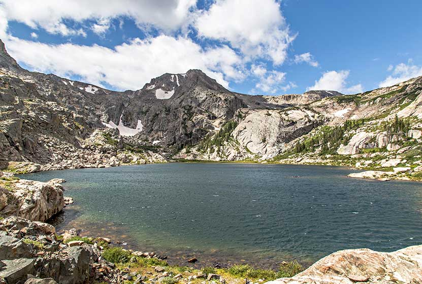 Bluebird lake in rocky mountain national park day hikes for Fishing near denver