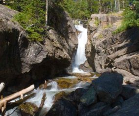 chasm falls rocky mountain national park header