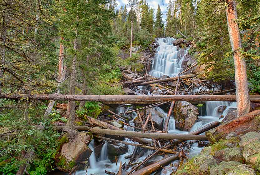 fern falls rocky mountain national park header