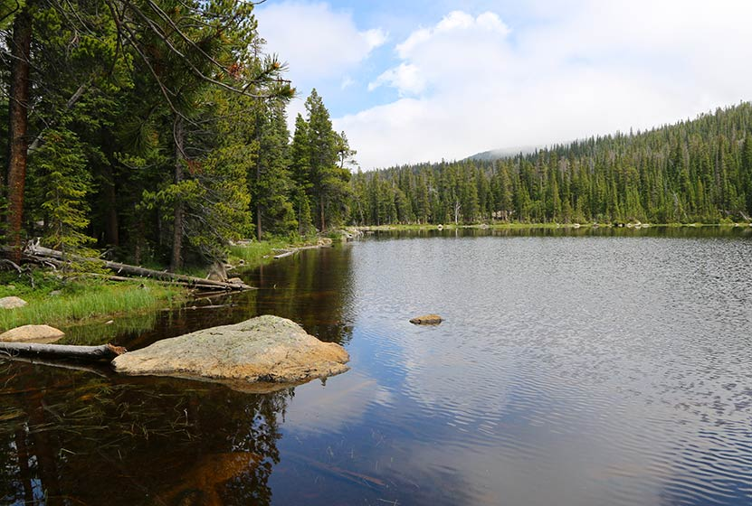 finch lake rocky mountain national park header
