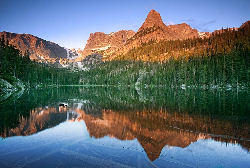 odessa lake rocky mountain national park header