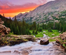 ribbon falls rocky mountain national park header