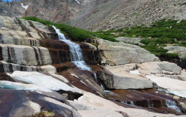 Shelf Lake Falls in Rocky Mountain National Park