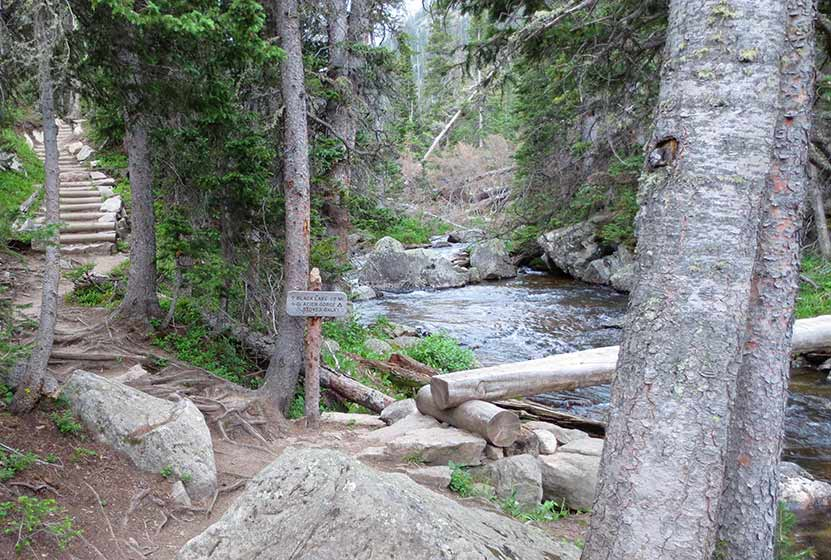 shelf lake rocky mountain national park trailhead