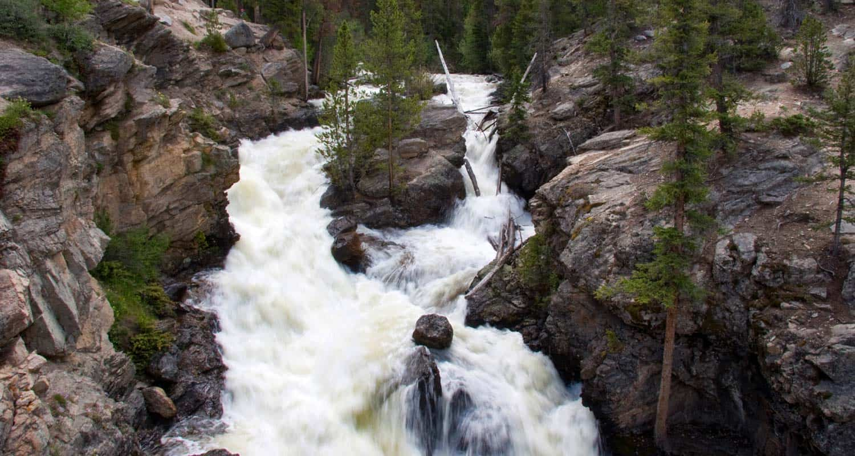 Adams Falls In Rocky Mountain National Park Day Hikes Near Denver - Colorado waterfalls map