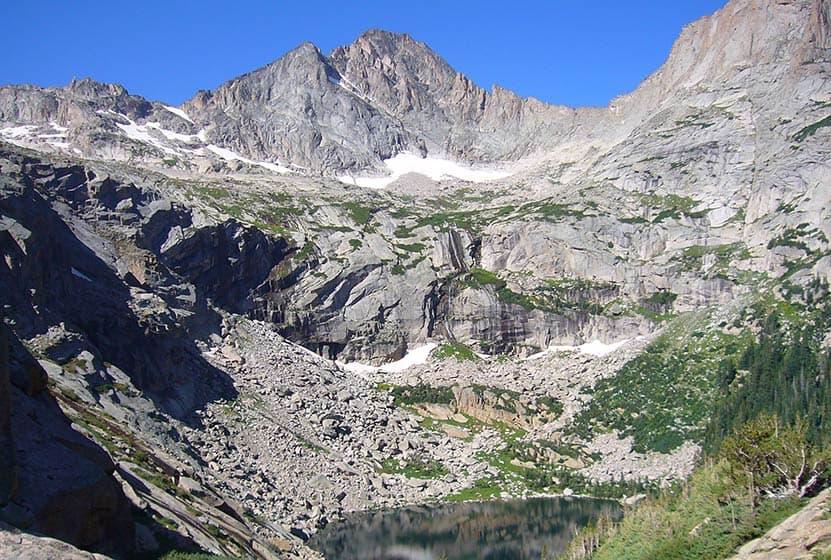 Black Lake Falls In Rocky Mountain National Park Day Hikes Near - Colorado waterfalls map
