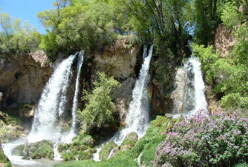 Triple Jizzing Near The Waterfall