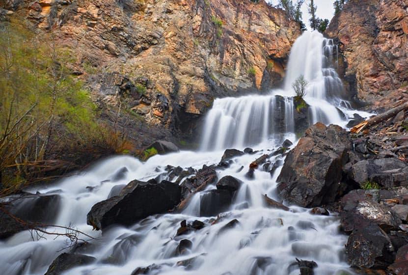 Silver Falls Near Pagosa Springs Colorado Day Hikes Near Denver - Colorado waterfalls map