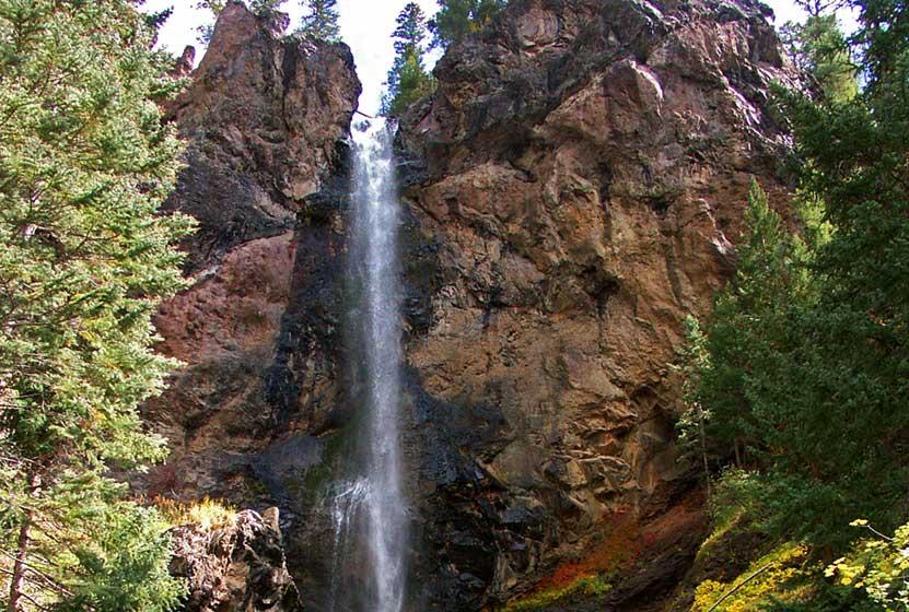 Treasure Falls Near Pagosa Springs Colorado Day Hikes Near Denver - Colorado waterfalls map