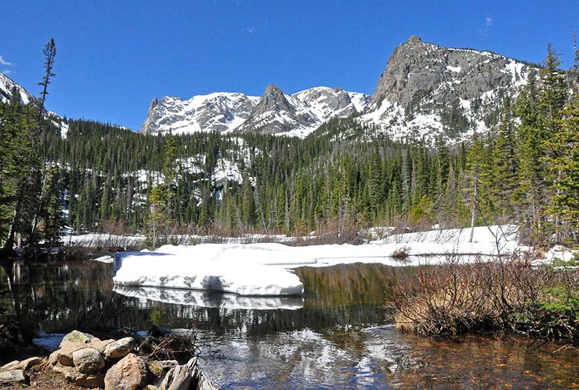 Fern lake in rocky mountain national park day hikes near for Fishing near denver