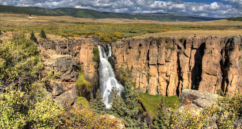 north clear creek falls near lake city colorado short waterfall hikes in colorado