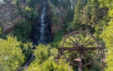 Bridal Veil Falls in Idaho Springs