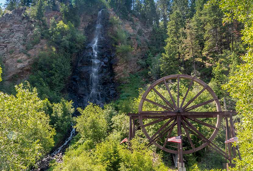 Bridal Veil Falls In Idaho Springs Day Hikes Near Denver - Colorado waterfalls map