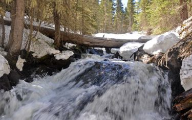 Marguerite Falls in Rocky Mountain National Park