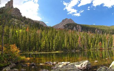 Spruce Lake in Rocky Mountain National Park
