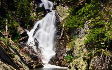 ypsilon falls rocky mountain national park header