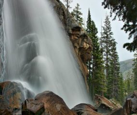ouzel falls rocky mountain national park