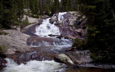 Granite Falls in Rocky Mountain National Park