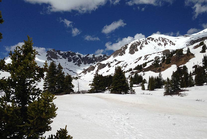 herman gulch hike near idaho springs winter trail