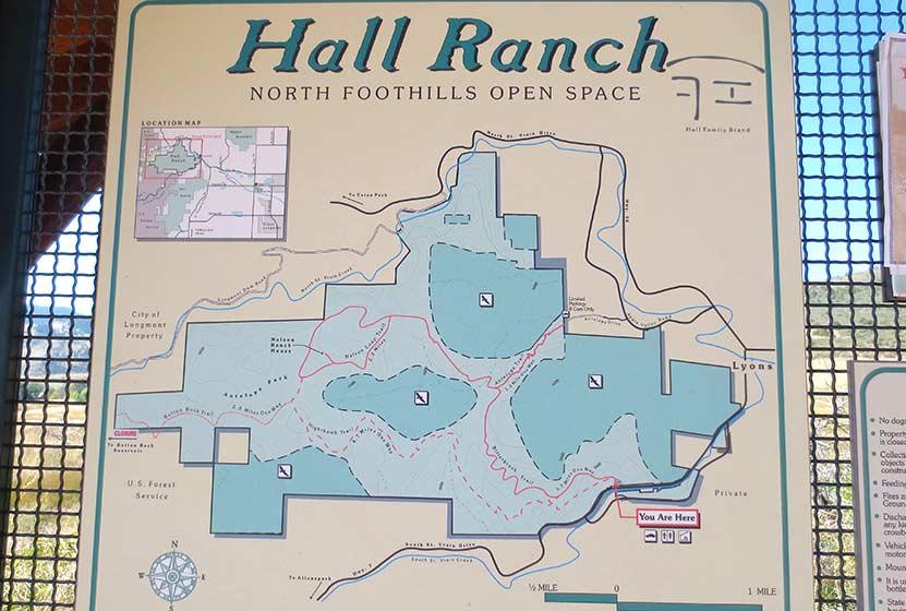 hall ranch near boulder map