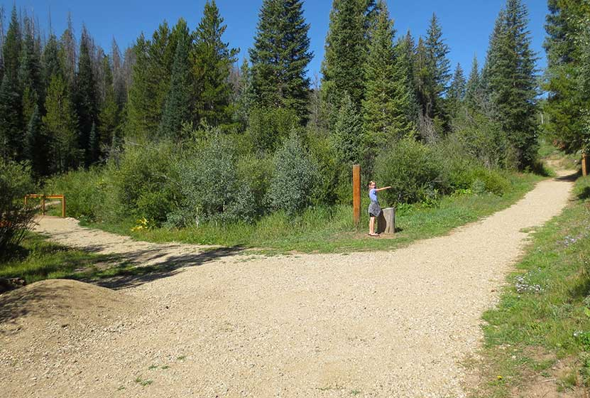 pole creek falls Granby colorado trail split