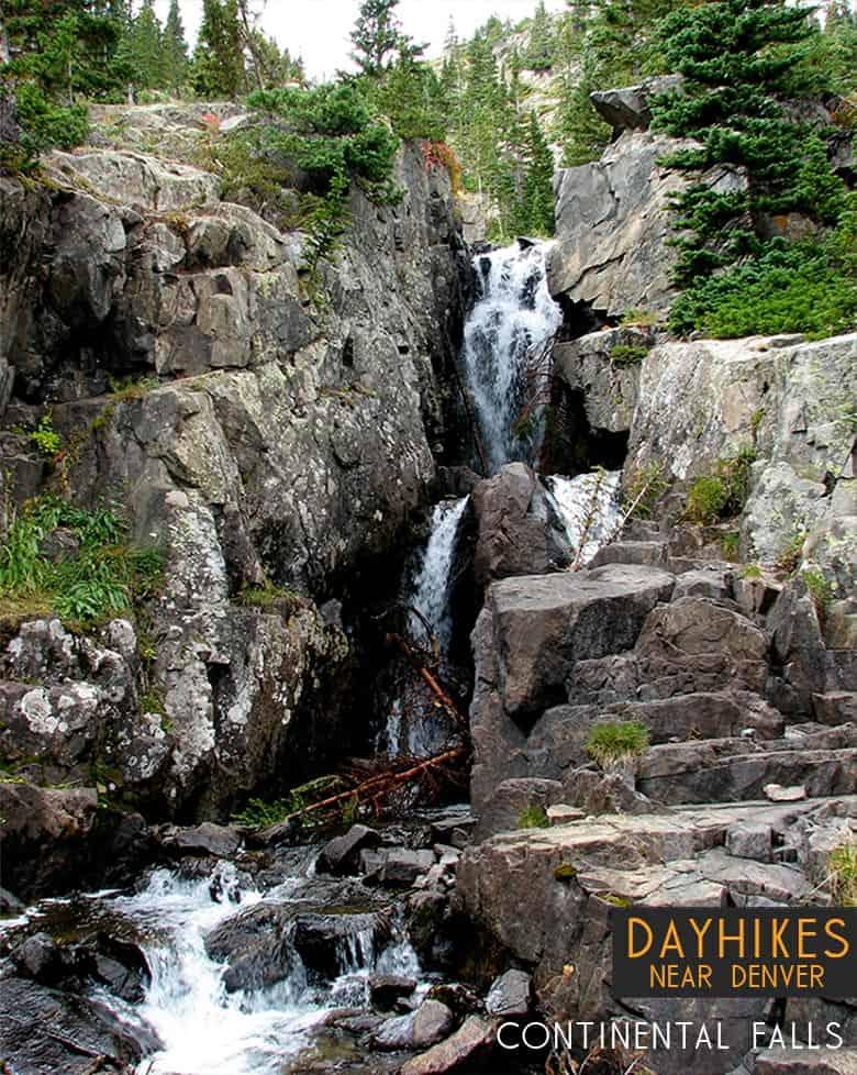 continental falls waterfall near breckenridge colorado