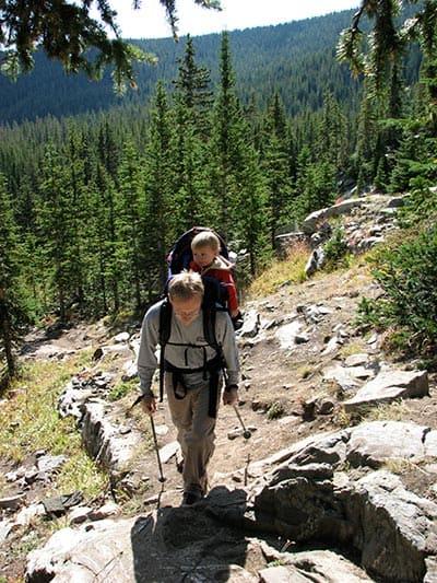 trail up to continental falls near breckenridge