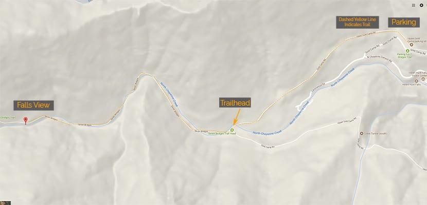 map of undine falls