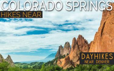 red rocks against blue skies in colorado springs garden of the gods hike