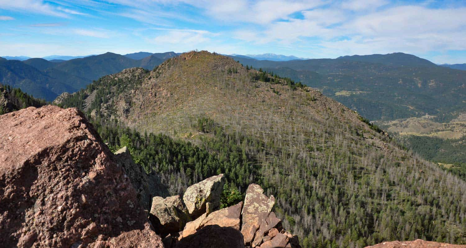 View of South Boulder Peak from Bear Peak Near Boulder Colorado