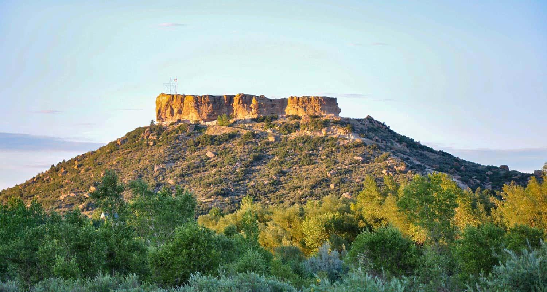 Castle Rock rock formation in Castle Rock Colorado hiking trails