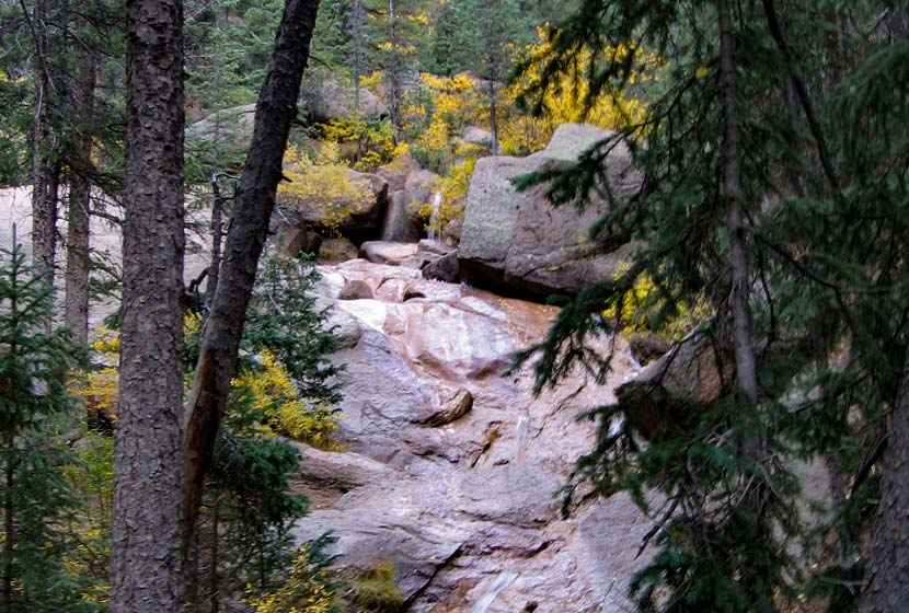 horsethief falls waterfall near cripple creek colorado