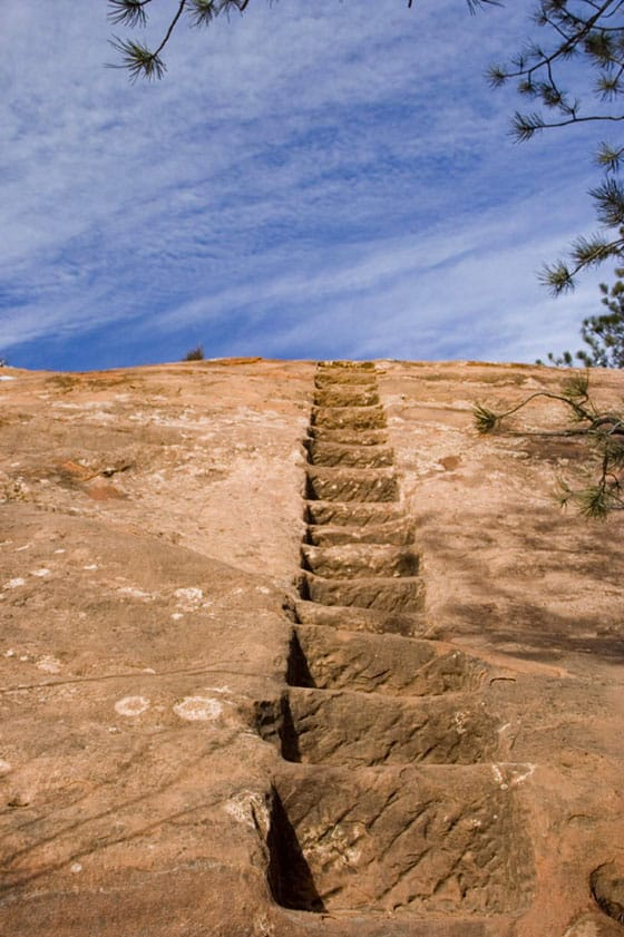 quarry steps at red rock open space on hike in colorado springs