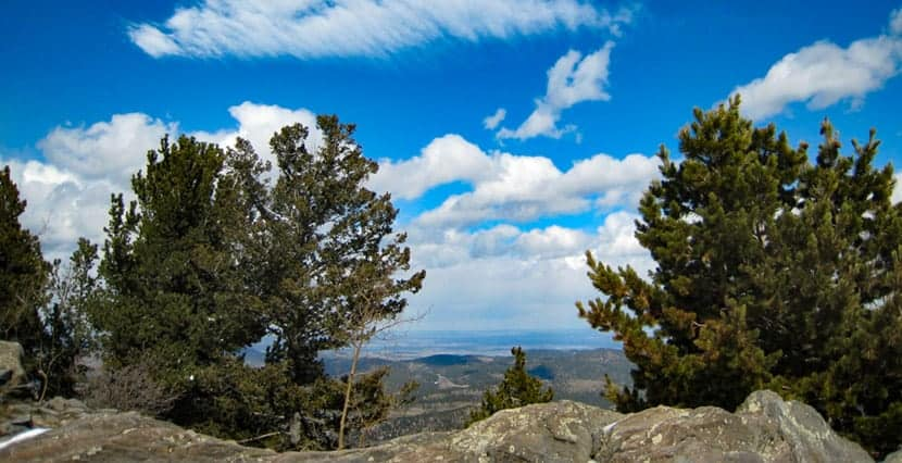 view from the summit of bergen peak near evergreen colorado
