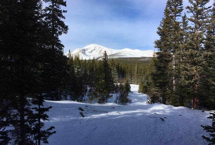 view of indian peaks mountains from waldrop trail at brainard lake colorado